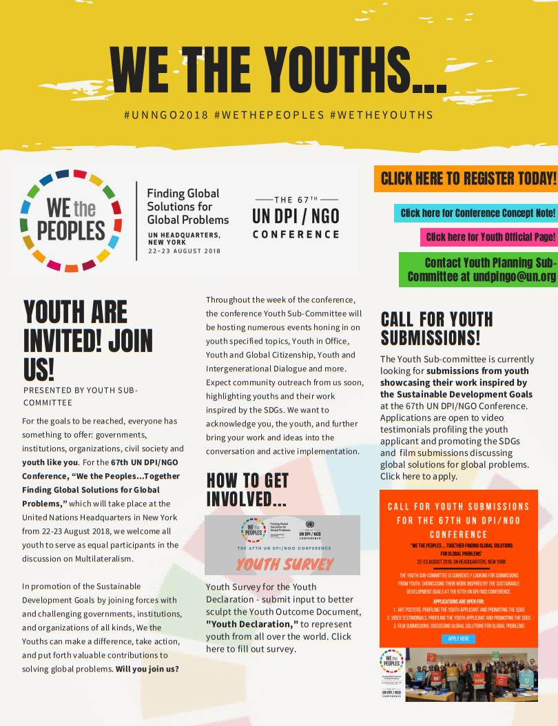 UN DPI/NGO Conference Youth Poster